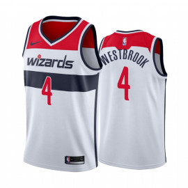 Camiseta NBA Washington Wizards Westbrook 4 Blanca