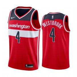 Camiseta NBA Washington Wizards Westbrook 4 Roja