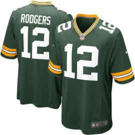 Camiseta Green Bay Packers Aaron Rodgers Verde