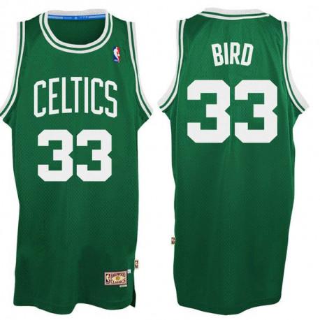 Camiseta Boston Celtics Larry Bird Verde