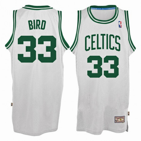 Camiseta Boston Celtics Larry Bird Blanca